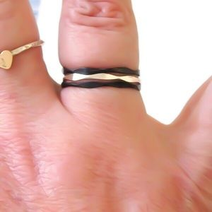 Moodtherapy Jewelry - Set of 3 925 SS Stack Rings